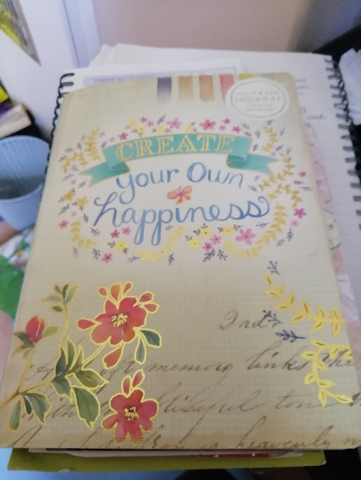 The front cover of my happy journal